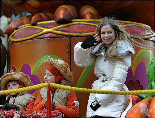 Singer Avril Lavigne was among the celebrities at the parade.