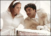 Mary-Louise Parker and Jeffrey Wright in HBO's 'Angels in America,' a note-perfect TV version of Tony Kushner's play.