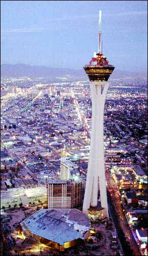 Aerial view of the Stratosphere Tower