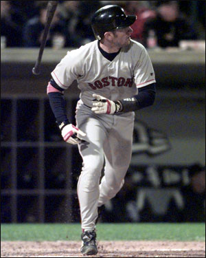 Nomar belts a solo homer against the Chicago White Sox on Sept. 27, 2000, extending a hitting streak that would reach 20 games two days later.