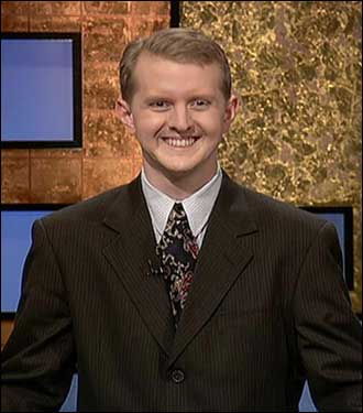 Ken Jennings 74-game winning streak on Jeopardy! came to end and Tuesday, November 30 after winning a record game show haul of $2,520,700. Here's a little bit about him: Age: 30 Occupation: Software engineer for CHG Companies Hometown: Salt Lake City Family: Married to Mindy and they have a 21-month-old son, Dylan, and a dog, Banjo. Now let's take a look at some of the events that have occurred since Jennings began his historic winning streak...
