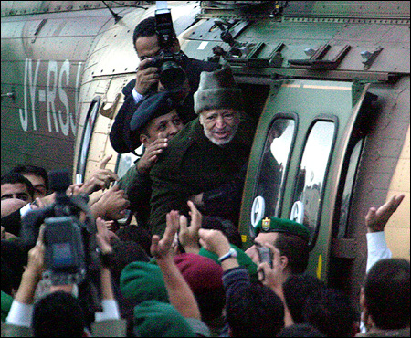 Palestinian leader Yasser Arafat boarded a Jordanian Airforce helicopter in October. Arafat left his headquarters in the West Bank town of Ramallah to go to France for medical treatment, and died there after several days in a hospital.