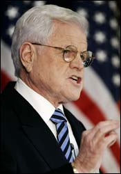 EDWARD M. KENNEDY Says 'exit strategy' needed