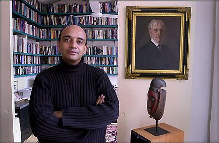 Kwame Anthony Appiah in his New York apartment, 2002.