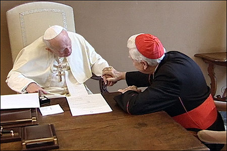 CRISIS RESPONSE: Eleven months into the clergy sexual abuse scandal, on Dec. 13, 2002, Pope John Paul II accepted the resignation of Cardinal Bernard F. Law as archbishop of Boston.