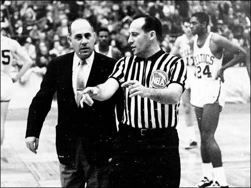 Auerbach received a technical foul for arguing with referee Norm Drucker during a Celtics-Knicks game in 1960.