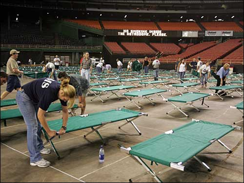 cots in the Astrodome