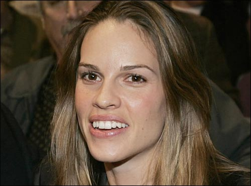 Appearing on tonight's broadcast to solicit donations for the American Red Cross Disaster Relief Fund are Leonardo DiCaprio, Hilary Swank (pictured), Lindsay Lohan, John Goodman, Claire Danes, and Mike Myers.