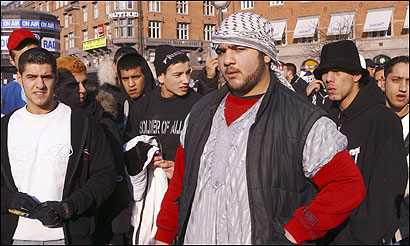 On Feb. 4, Muslims gathered in Copenhagen to protest the publication of 12 cartoons depicting the Prophet Mohammed.