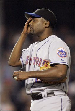 Darren Oliver pitched 1 and 1/3 innings allowing three earned in the NLCS but turned it around in the Championship Series. Oliver pitched six shutout innings in relief in Game 2 against St. Louis, a Mets loss.