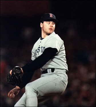 With the Sox up 3-2 in the 1986 World Series, Sox ace Roger Clemens started Game 6 at New York's Shea Stadium.