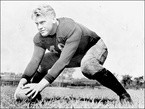 Ford first made a name for himself playing football for the University of Michigan. He won three varsity letters as a lineman and was voted Most Valuable Player in 1934 while playing center. Later, at Yale University Law School, he served as assistant varsity football coach to Ducky Pond and coached freshman boxing.