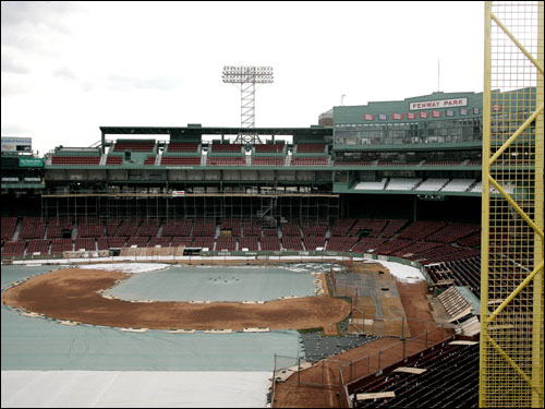 Fenway Park is seen from the Monster seats above left field on Wednesday.