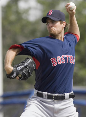 Sox starter Kason Gabard pitched during the first inning against the Blue Jays.