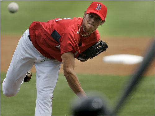 Buchholz continues to impress, though the Sea Dogs lost the opener of Thursday's doubleheader. He went 5 2/3 innings, allowing three hits and one run and striking out seven. Buchholz and Josh Beckett are the only players in Portland history to have struck out at least seven batters in six consecutive starts. Buchholz has a 1-1 record in Portland with a 1.82 ERA and 53 strikeouts in 39 2/3 innings.