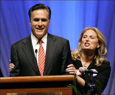 Romney with his wife, Ann, spoke to delegates May 19 at the Republican Party State Convention in Columbia, S.C.