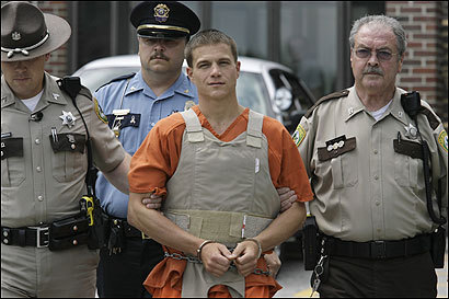 As Michael Woodbury was escorted into Oxford County District Court in South Paris, Maine, for a hearing yesterday, he told reporters he killed three people in a Conway, N.H. store on Monday because he 'needed the money.' Woodbury, 31, waived extradition to New Hampshire. The store manager and two customers from Massachusetts were killed.