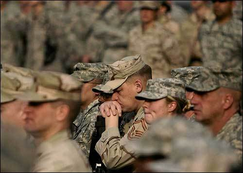 In Afghanistan, US troops attended a Veterans Day ceremony at Camp Eggers, Kabul. Soldiers marked the day through meditation and prayer for fallen colleagues in Afghanistan.