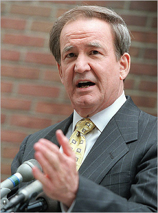 After two failed attempts at the Republican presidential nomination, Pat Buchanan brought his message of conservative values to the campaign trail as the Reform Party's candidate in 2000. Buchanan's nomination wasn't well received -- it caused a rift in the party, and Buchanan received less than 1 percent of the vote in the general election. He returned to the Republican Party afterwards.