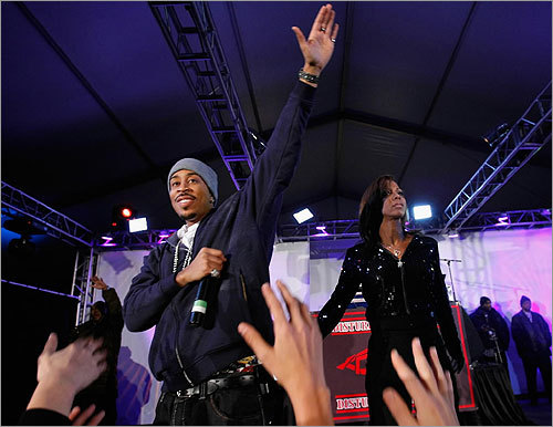 Rapper Ludacris performed at the 'Best Damn Super Bowl Party Period' at the Rockridge Estate Thursday in Phoenix.