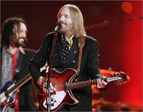 Tom Petty smiled at the crowd as he performed at the halftime show.