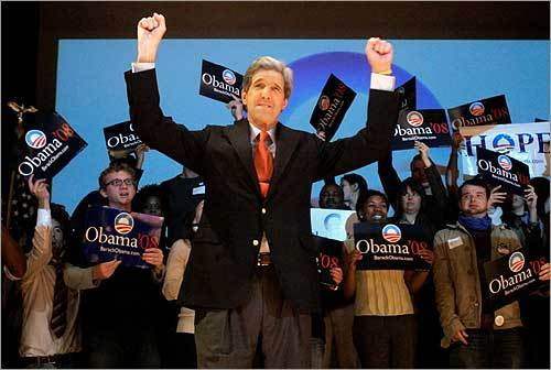 Senator John Kerry Kerry also endorsed Obama and has campaigned for him across the country. He plans to vote for the Illinois senator at the convention.