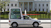 Pope Benedict on parade in Washington, D.C.