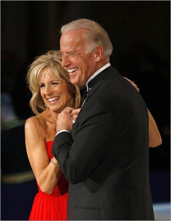 Vice President Joseph Biden and his wife, Jill, shared a laugh while dancing.