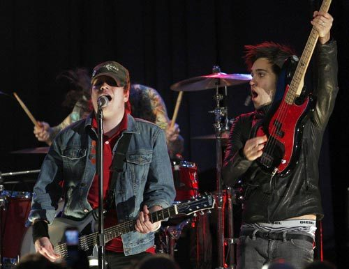 Fall Out Boy performed at the Presidential Inaugural Youth Ball.
