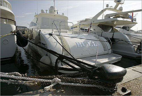 Leopard yacht nicknamed 'Bull' Value: $7 million Status: The 89-foot boat was seized by French authorities in the southern France. French authorities threw a heavy chain around the boat's propeller after a court granted the request by French investment firm Meeschaert, one of the many former investors in one of Madoff's funds that is now suing to get some of its clients' money back.