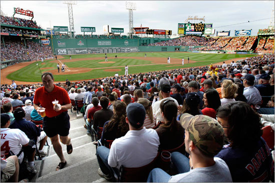 Fans filled Fenway Park for the 500th consecutive sellout.