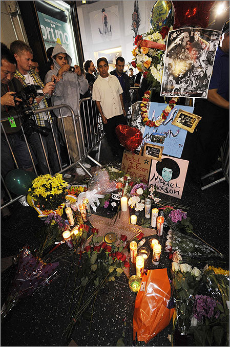Fans gathered around Jackson's star on the Hollywood Walk of Fame in Los Angeles early on June 26. Jackson's body is scheduled to undergo an autopsy today.