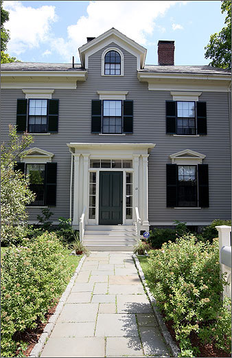 When he isn't at the office, Lesley University President Joseph B. Moore can take a load off at 12 Kirkland Place, Cambridge, which was bequeathed to Lesley in 1967. The 12-room house was built in 1857, and is part of the Kirkland Place Historic District.