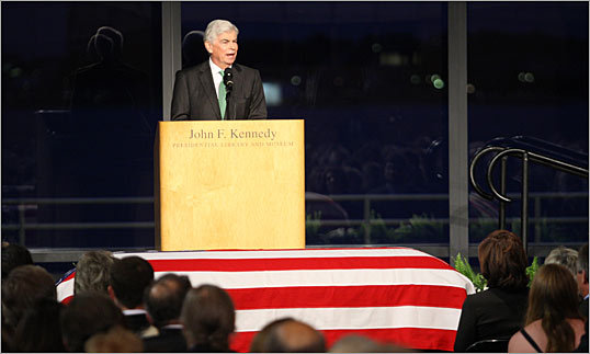 Sen. Chris Dodd pays tribute to Ted Kennedy.