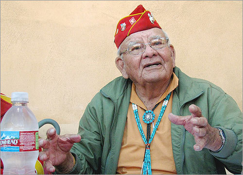 Keith Little, 85, of Crystal, N.M., was expected to join 12 other Navajo Code Talkers in the New York for today's Veterans Day Parade. Navajo Marines helped the US prevail at Iwo Jima and other World War II Pacific battles with an unbreakable code that stymied the Japanese.