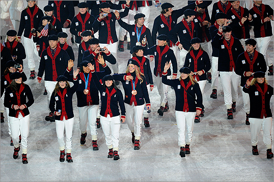 The United States team walked through the stadium during the Closing Ceremony of the Vancouver 2010 Winter Olympics at BC Place on February 28, 2010 in Vancouver, Canada.