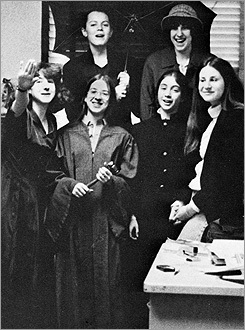 Kagan, front row, second from left and holding a gavel, was president of her high school's student council.