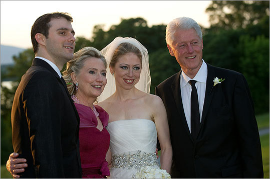 Chelsea Clinton's wedding to Marc Mezvinsky, left, certainly was a style upgrade from the fashion-challenged 70s, when former President Bill Clinton and Hillary Rodham Clinton married.