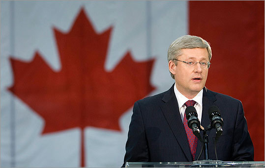 Canadian Prime Minister Stephen Harper commented on the death of Osama bin Laden following President Obama's announcement. 'Canada receives the news of the death of Osama bin Laden with sober satisfaction. We will continue to stand firm with our allies against the threat of global terrorism,' Harper said.