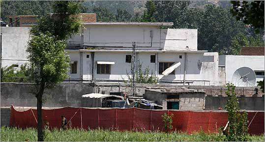 The strike team seized bin Laden's body after the raid at a compound (pictured) in Abbottabad, a community about 45 miles from the Pakistani capital of Islamabad. A senior US official said bin Laden has been buried at sea.