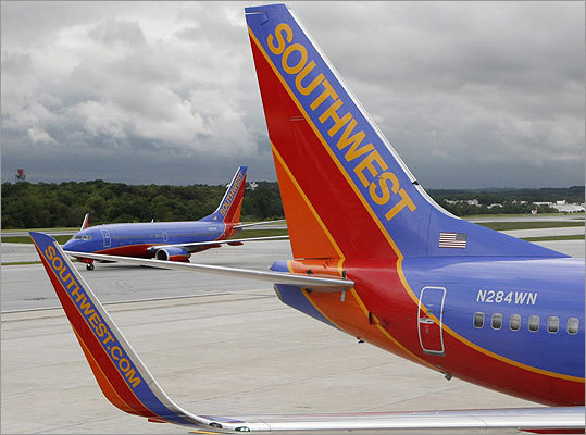 3. Southwest, 83.77 percent Southwest, which carries more passengers than any other airline, came in third for on-time rates in July.