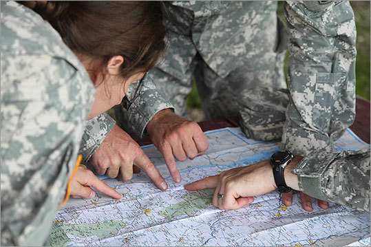Members of the Vermont National Guard mapped out the airlift rescue operations to bring ready-to-eat meals and water to residents left isolated in states along the Eastern Seaboard.
