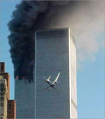 United Airlines Flight 175, a Boeing 767, crashed into the south tower of the World Trade Center at 9:03 a.m., less than 20 minutes after Flight 11 left a gaping hole in the north tower. All 65 people on board - 56 passengers and nine crew members - were killed. The flight was en route from Logan International Airport in Boston to Los Angeles.