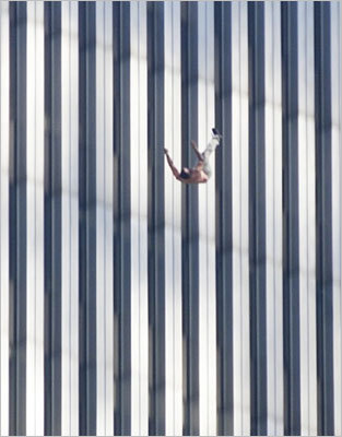 From car rental and food retail agencies to wholesalers and consultants, the companies in the World Trade Center made it one of the world's busiest buildings. Pictured: A person jumped from the north tower.