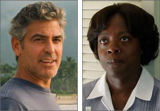 George Clooney and Viola Davis are the leaders among Boston.com voters for Best Actor and Best Actress.