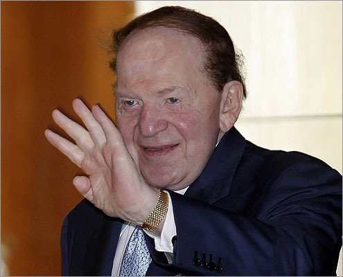Las Vegas Sands Corp. CEO Sheldon Adelson.