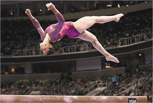 Enthusiasm for Aly Raisman has been building since she earned a spot on the American team in June.