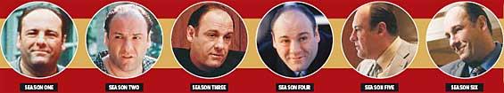 Tony Soprano, season by season