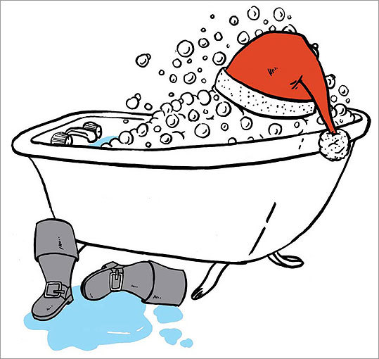To avoid toothaches in the coming year, tradition says you should bathe on Christmas Day.