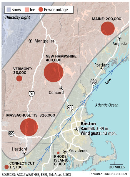 Map The Trail Of The Ice Storm Boston Com
